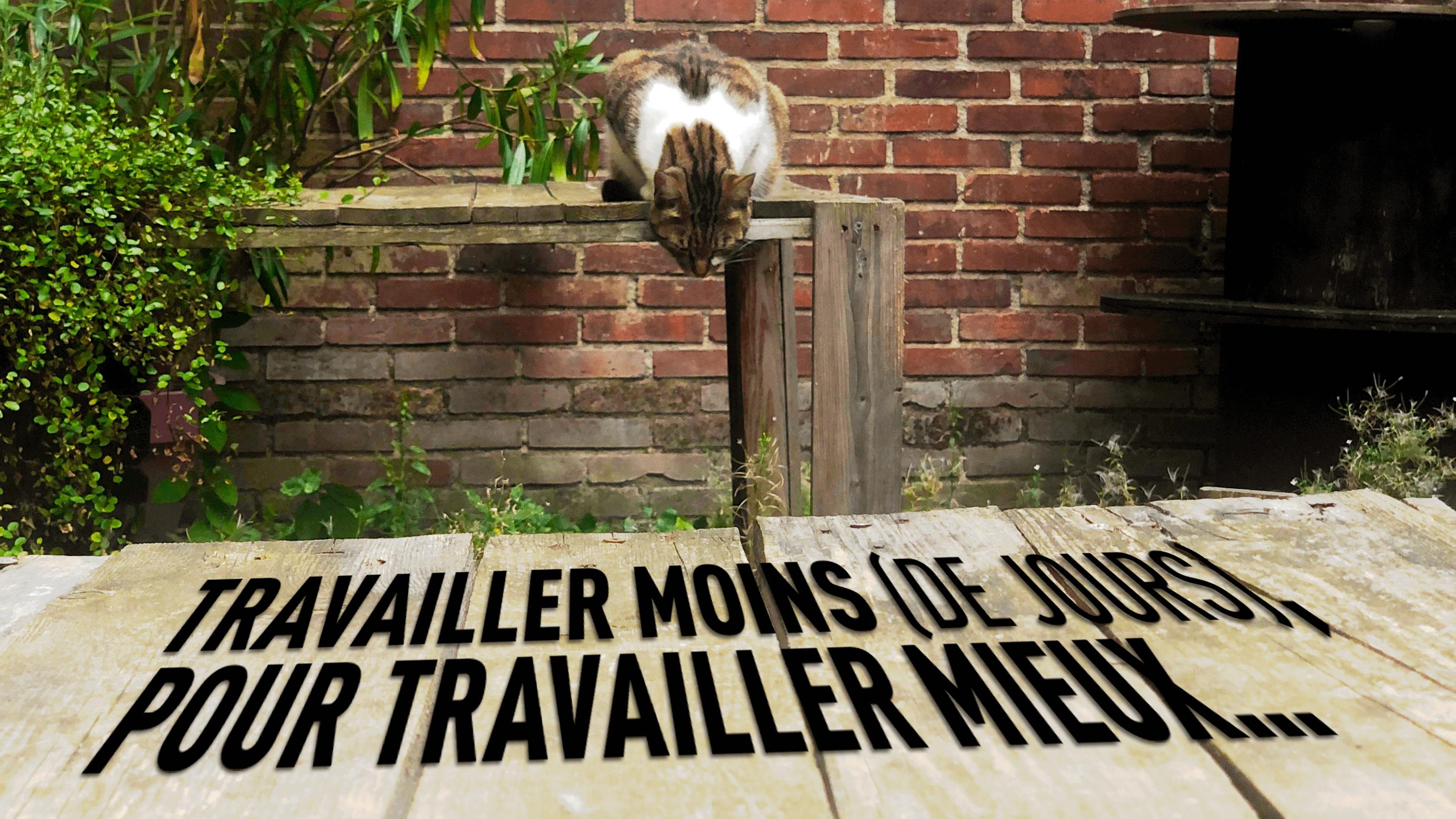 TRAVAILLER MOINS POUR TRAVAILLER MIEUX
